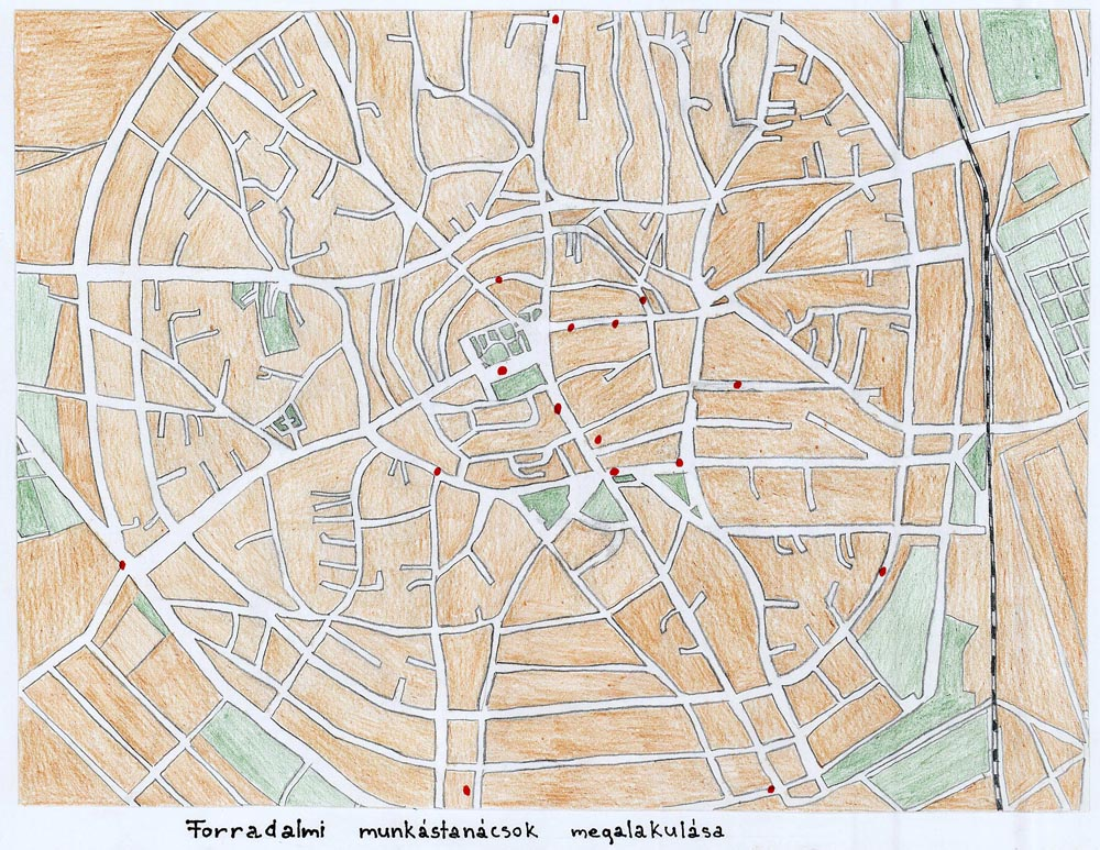 hajdúböszörmény térkép Gyermekrajzpályázat, 1956 hajdúböszörmény térkép