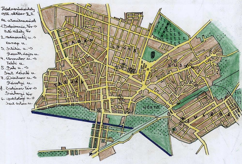 hódmezővásárhely térkép Gyermekrajzpályázat, 1956 hódmezővásárhely térkép