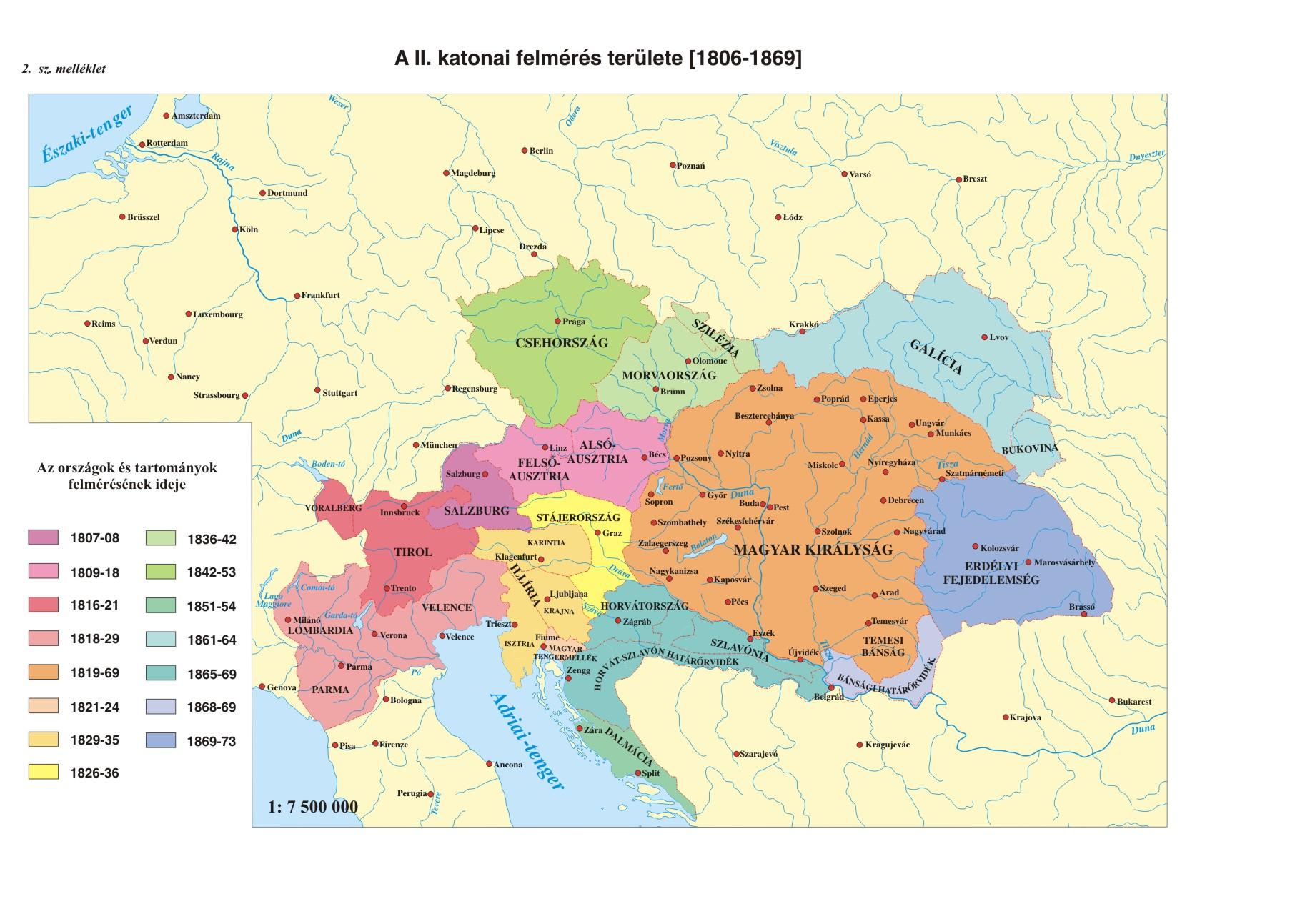 magyarország térkép 1864 Kovacs Aniko   diplomamunka mellekletek magyarország térkép 1864