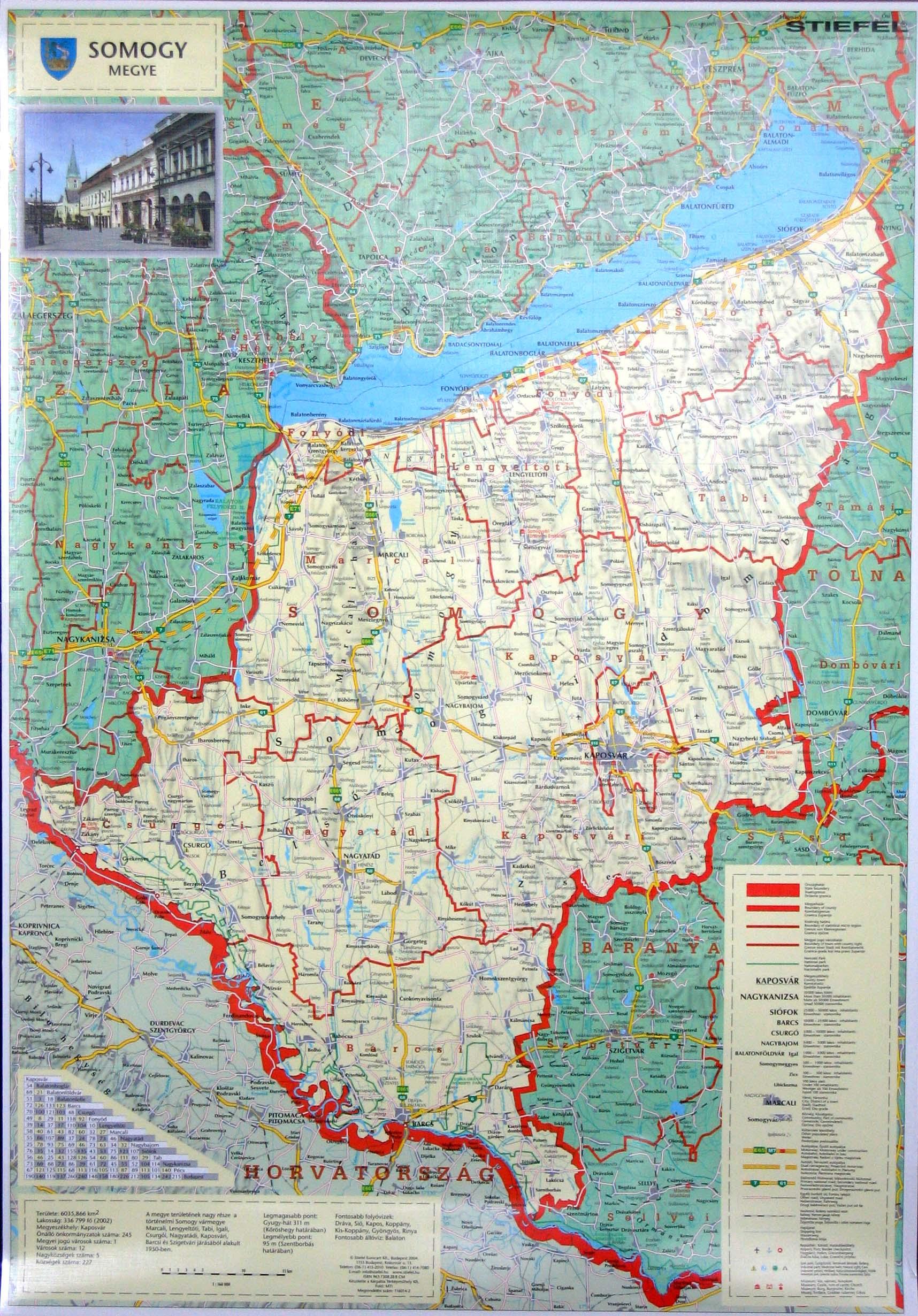 somogy megye térkép részletes Szép Magyar Térkép 2004